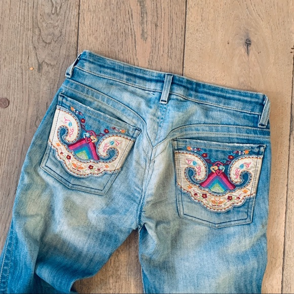 people for peace Denim - PEOPLE FOR PEACE custom embroider blue jeans 24